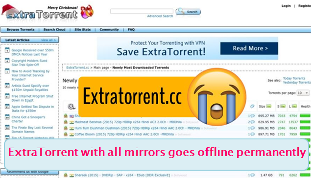 extratorrent permanently shutdown