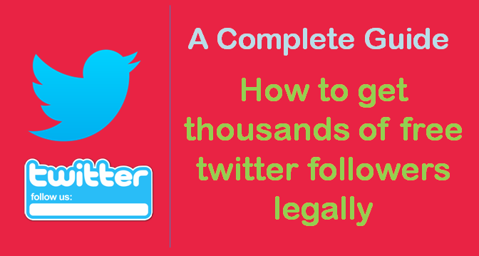 get free twitter followers