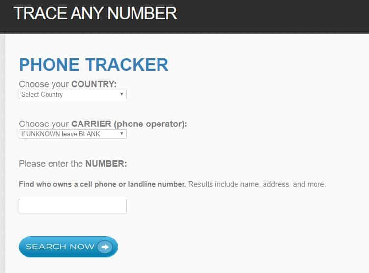 Trace any number