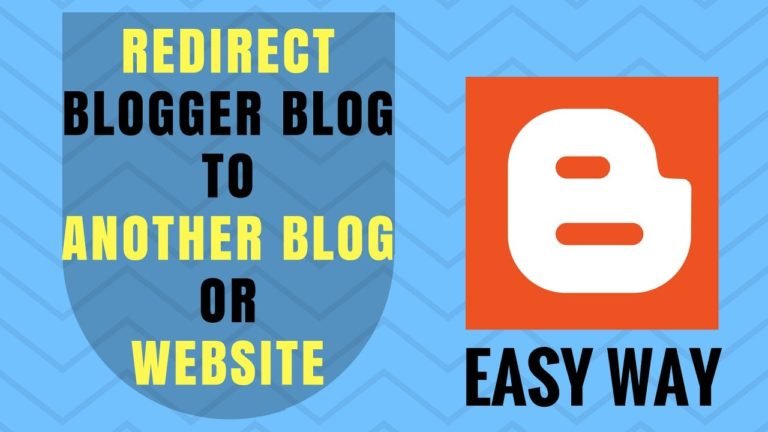 How to Redirect Blogger Blog To Another Blog