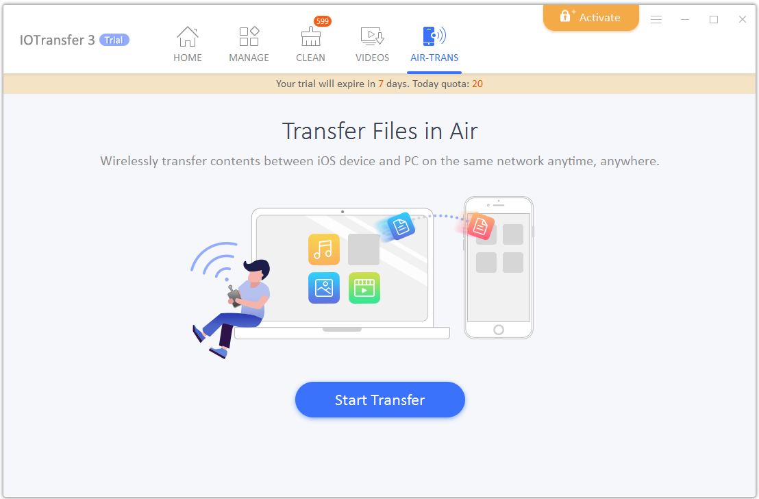 Wirelessly Transfer Files