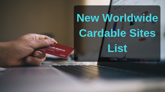 New Worldwide Cardable Sites List