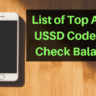 List of Top Airtel USSD Codes To Check Balance