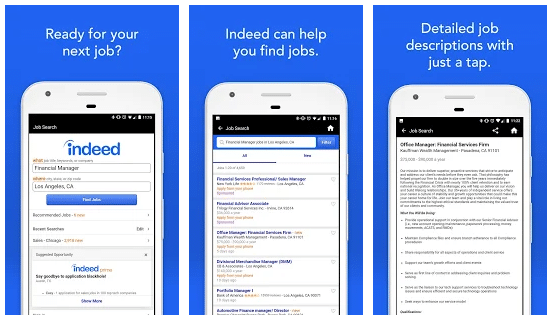 indeed job search app